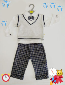 Brats and Dolls New Fashion Design Kids Shirt & Pant Set With Bow Tie Baby Boys Gentleman (1 Pc)