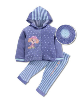 Mom's Love Cute Puppy Design Kids Suit Set For Baby Girls