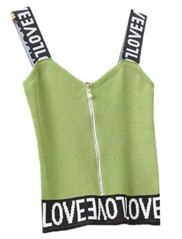 Swaggers Cotton Printed Sleeveless Tshirt Top For Girls