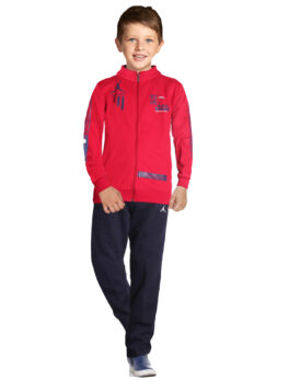 Swaggers Cotton Blended Solid Plain Track Suit for Kids Boys