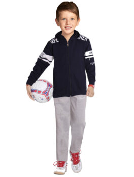 Swaggers Cotton Blended Solid Plain Track Suit for Cute Kids Boys