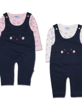 Mom's Love Outfits Kids Suit Set With Suspenders Strap Baby Boys Gentleman