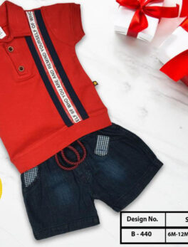 Buy Button T shirt and shorts Set for kids Boys Swaggersonline
